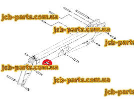 Палець в шток г / циліндра висунення третього коліна 811/70106 для навантажувача JCB 540-140