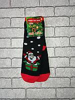 Женские махровые носки Новогодние, разные цвета, фото 1