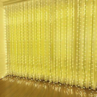 Светодиодная гирлянда LTL штора сurtain 6*3 м 900 LED 220v Теплое свечение, фото 2