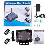 Беспроводной электронный забор для собак Wireless Dog Fence WDF-200 с 2-мя ошейниками, фото 5