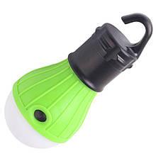 Фонарь для палатки туристический светодиодный TL-3, зеленый, на батарейках ААА