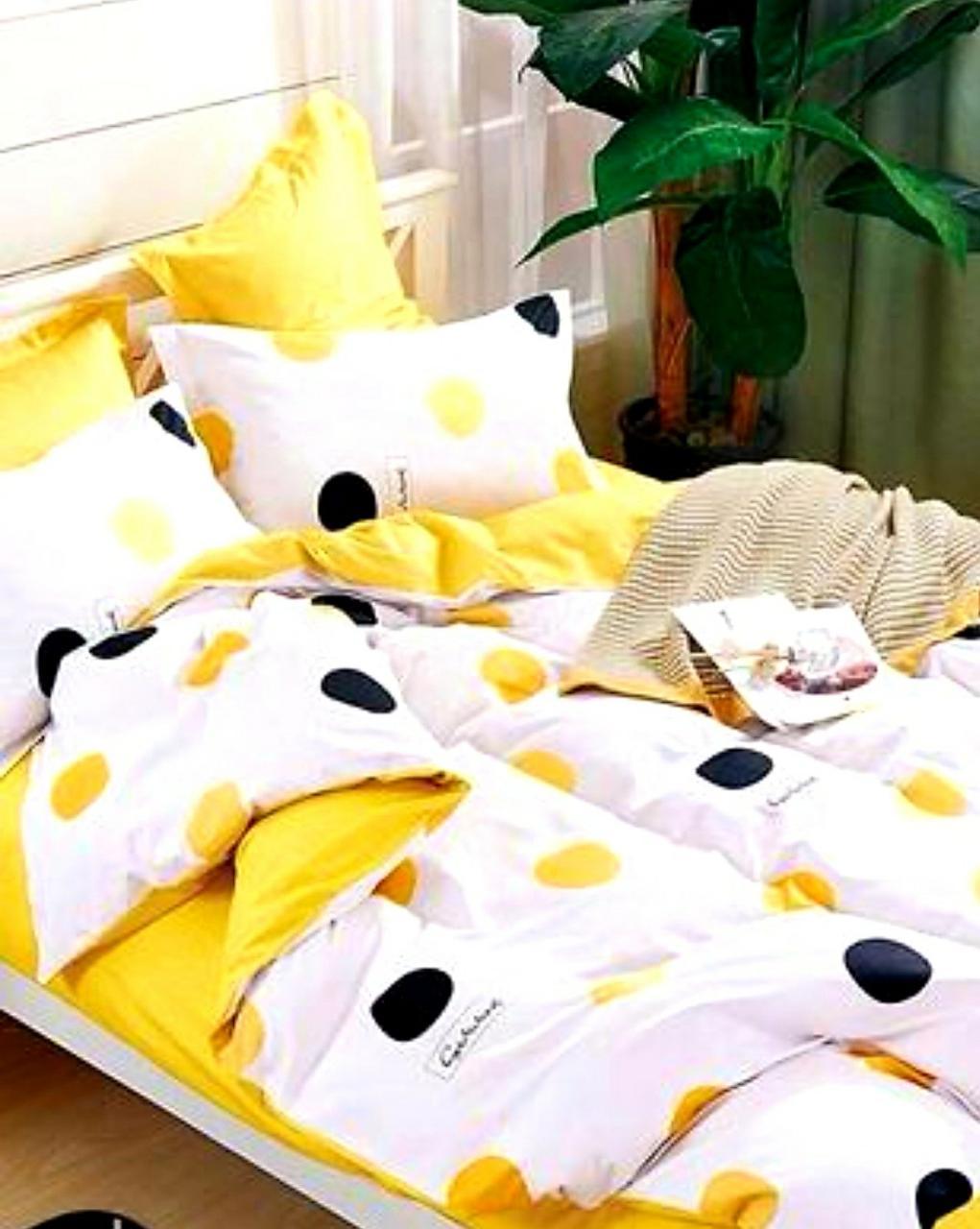 Набор постельного белья в горох Двуспальный