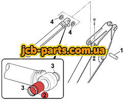 Втулка в основание г/цилиндра ковша 333/C4988 для JCB JS330
