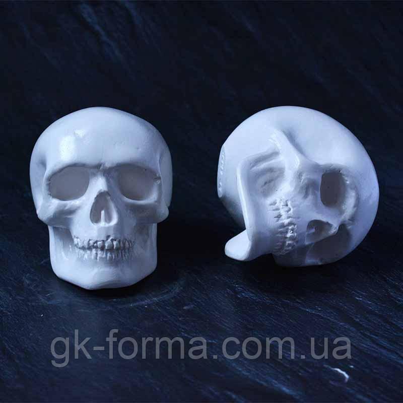 Маленький череп статуэтка. Фигурка из гипса для раскрашивания