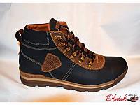 Ботинки мужские зимние Украина кожаные на меху Uk0112