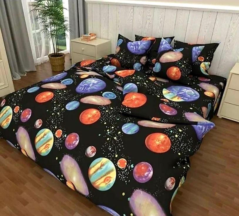 Набор постельного белья Планеты Полуторный