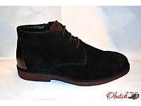 Ботинки мужские зимние классические Basconi замша на натуральном меху BA0011