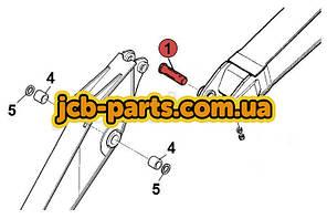 Палец (соединение рукоять-стрела) 205-70-65680 для Komatsu PC200 (7 серия)