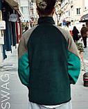 Теплая кофта худи Adidas M683 зеленая, фото 2