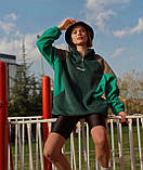 Теплая кофта худи Adidas M683 зеленая, фото 3