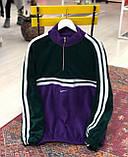 Теплая кофта худи Adidas M685 фиолетово-зеленая, фото 4