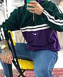 Теплая кофта худи Adidas M685 фиолетово-зеленая, фото 3
