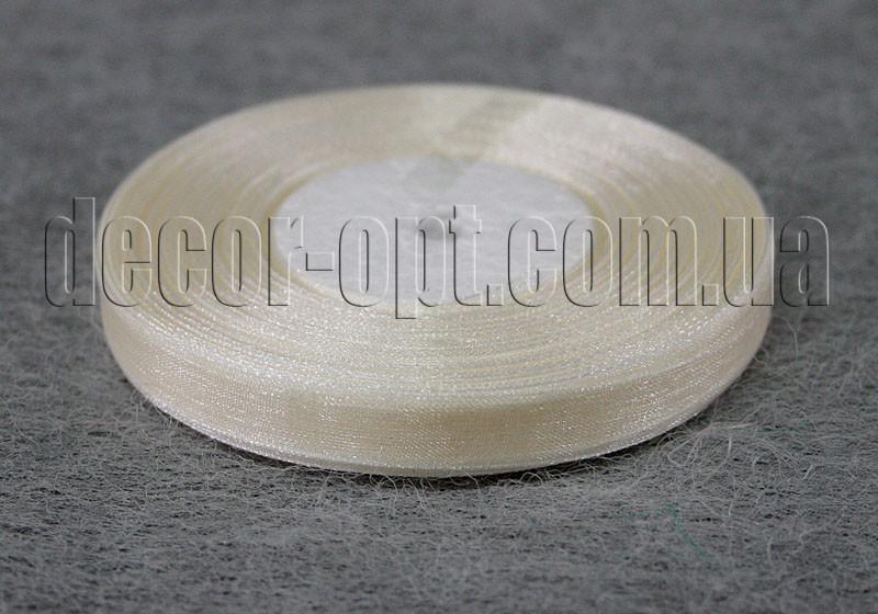 Лента органза кремовая 1 см 50ярд 08