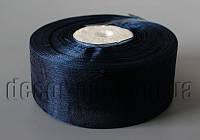 Лента органза темно-синяя 4 см 50ярд  арт 38