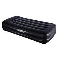 Односпальная надувная велюр-кровать Bestway 67401 BW встроенный насос 220В 191х97х46 см int67401, КОД: 1479064