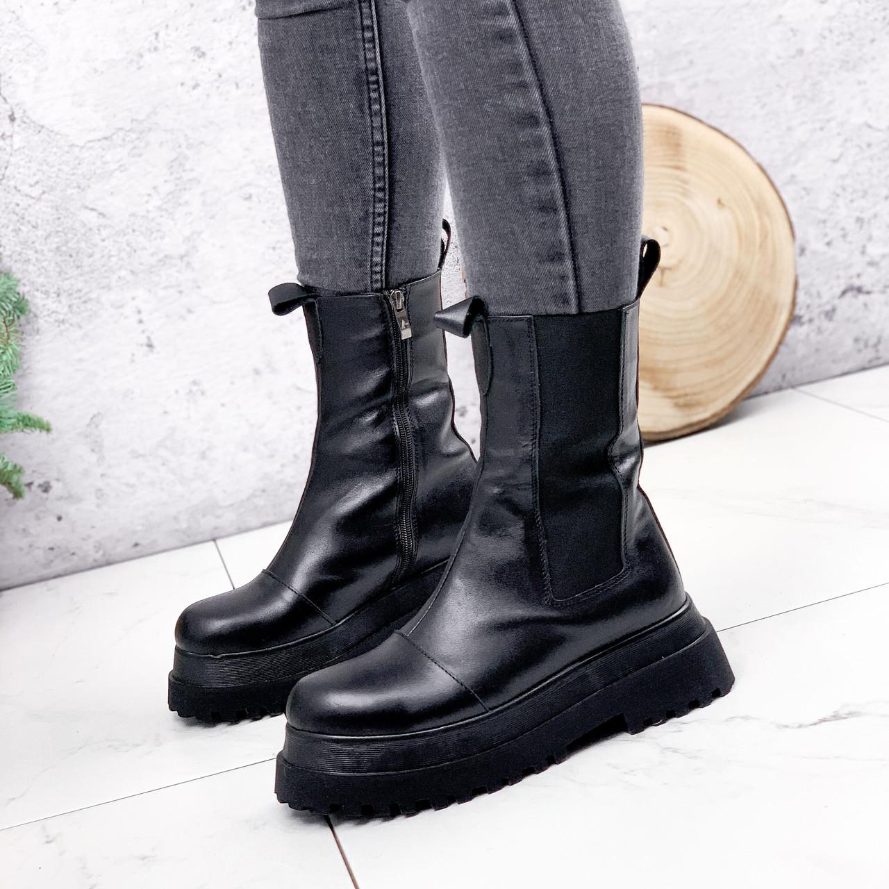 Ботинки женские Lina черные ЗИМА 2770