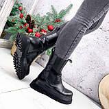 Ботинки женские Lina черные ЗИМА 2770, фото 4