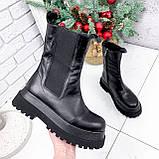 Ботинки женские Lina черные ЗИМА 2770, фото 7