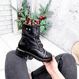 Ботинки женские Karel черные ЗИМА 2771, фото 7
