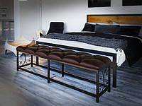 Пуф прикроватный Tenero Сплит 115х37х45 см Черный коричневый 1000002166, КОД: 1822219