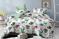 """Комплект постельного белья сатин """"Цветущие кактусы"""""""