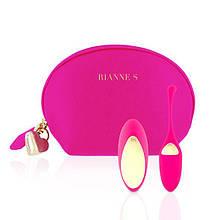 Виброяйцо с вибрирующим пультом Д/У розовый с косметичкой-чехлом Rianne S: Pulsy Playball Deep - Бесплатная