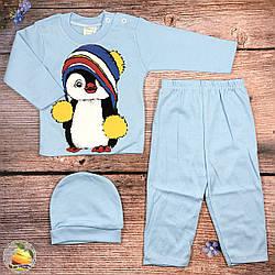 Кофточка, штанишки и шапочка для малыша Размер: 62 и 68 см (01295-1)