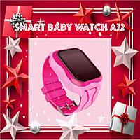 Smart Baby Watch A32 Детские умные часы с GPS Розовые