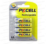 Аккумулятор PKCELL АА 2800mAh 4шт в блистере реальная емкость, фото 8