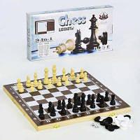 Шахматы 3 в 1 деревянная доска SKL11-187007