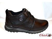 Ботинки мужские зимние Timberland кожаные на меху черные T0014