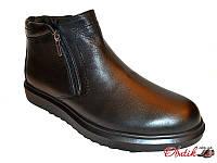 Ботинки мужские зимние Box&Co кожа на меху сбоку молния Box0011