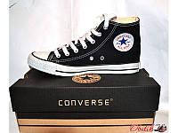 Кеды CONVERSE ALL STAR Унисекс высокие черные с белым Co0004