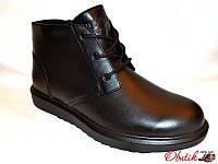 Ботинки мужские зимние Box&Co кожа на меху шнуровка сбоку молния Box0012