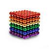 Неодимовый куб | Цветная игрушка | Магнитный конструктор NeoCub Rainbow 5 мм, фото 6