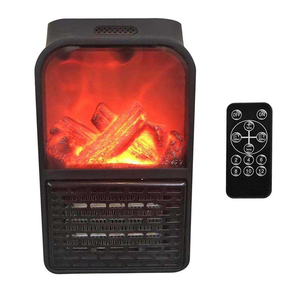 Камин обогреватель Flame Heater с пультом, портативный домашний обогреватель