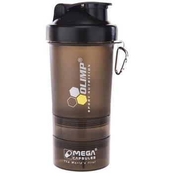 Шейкер Olimp Smart Shaker Black Label 3in1 (400 ml Black)