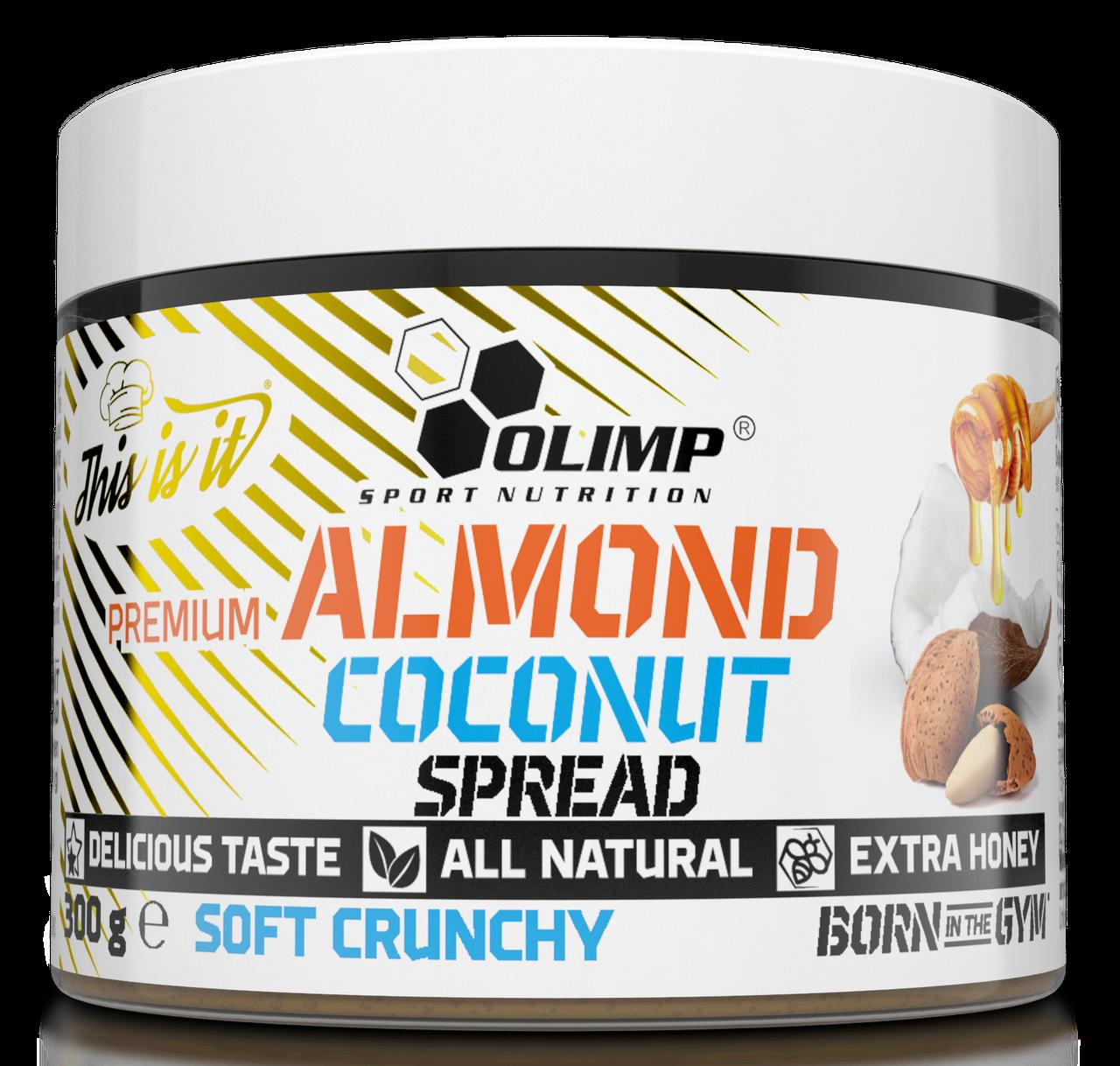 Мигдаль, какао, мед Olimp Premium Almond Coconut Spread soft crunchy( 300g)