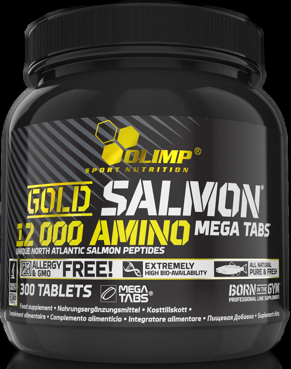 Аминокислоты Olimp Gold Salmon 12000 Amino mega 300 tab