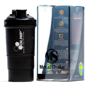 Шейкер Olimp Sport Nutrition Шейкер Olimp Metal 600 ml - чорний