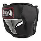 Боксерський шолом тренувальний PowerPlay 3065 Чорний L/XL, фото 2