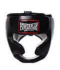 Боксерський шолом тренувальний PowerPlay 3065 Чорний L/XL, фото 3