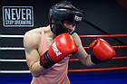 Боксерський шолом тренувальний PowerPlay 3065 Чорний L/XL, фото 7