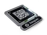 Табличка с QR кодом Viber, Telegram 200х250мм (Основание: Акрил металлик (серебро или золото);  Объемные