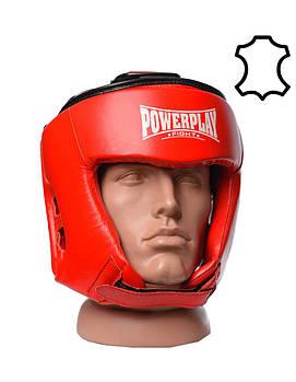 Боксерський шолом турнірний PowerPlay 3049 Червоний L