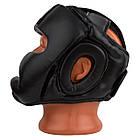 Боксерський шолом тренувальний PowerPlay 3066 PU + Amara Чорний M, фото 5