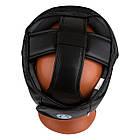 Боксерський шолом тренувальний PowerPlay 3066 PU + Amara Чорний M, фото 6