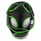 Боксерський шолом тренувальний PowerPlay 3068 PU + Amara Чорно-Зелений XS, фото 3