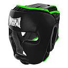 Боксерський шолом тренувальний PowerPlay 3068 PU + Amara Чорно-Зелений XS, фото 5