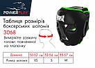 Боксерський шолом тренувальний PowerPlay 3068 PU + Amara Чорно-Зелений XS, фото 9